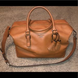 Kate spade authentic brown/caramel leather duffel